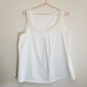 Talbots tank top with bead detailing